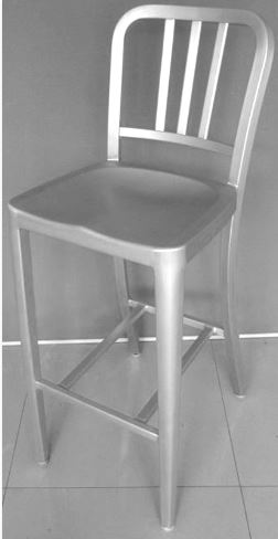 /Aluminum bar stool