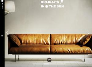 HOLIDAY 'S IN THE SUN<br /> 家具のご提案サイトが完成しました